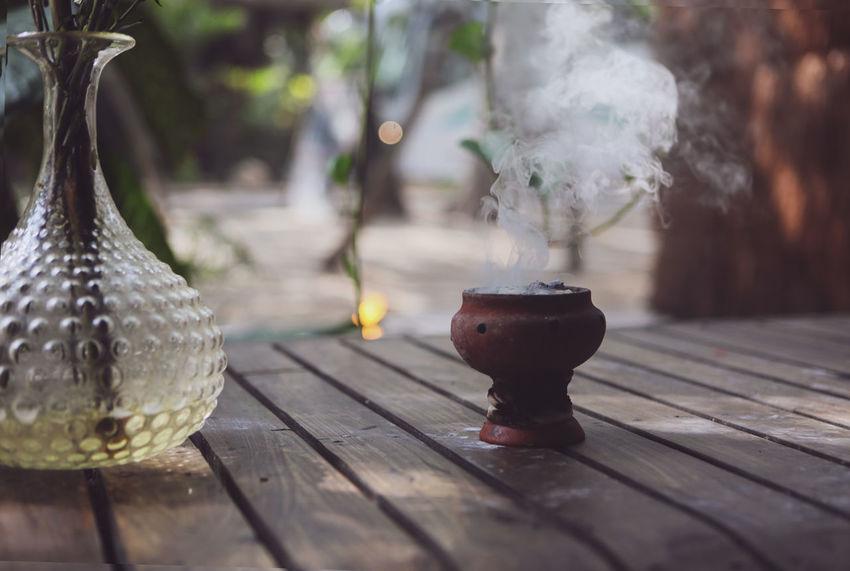 Burning Ceramic Pot Mexico Smoke Travel