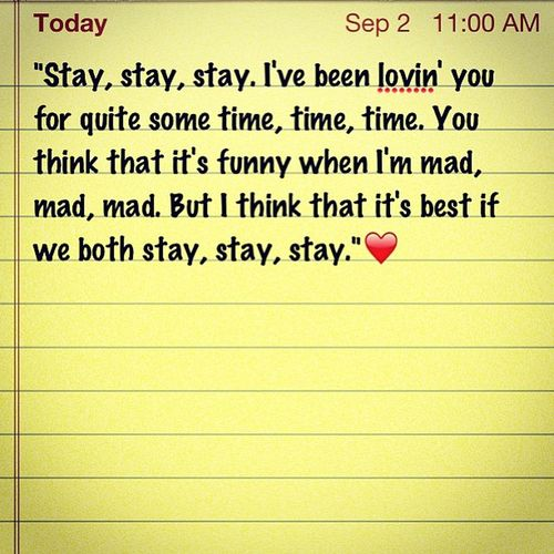This song describes us so well? @vincent_luis Taylorswift Staystaystay Lovethissong Socute ourrelationship