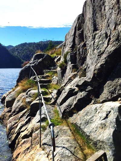 Staircase Staircase To Heaven Staircase Perspective Sea OpenSea Fjord Fjordsofnorway Fjords Flekkefjord Outdoors Boat Boat Ride Picknick Norway Norge