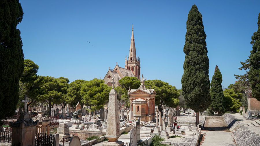 View of Santa Marija Addolorata Chapel Tomb Cemetery Santa Marija Addolotara Military Paola❤ Malta Trees Crypt Tombstone TombstoneCity Death