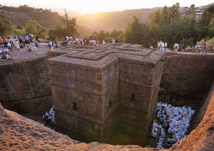Church Rock Church St. George Leddet Pilgrimage Christmas Sunset UNESCO World Heritage Site Ethiopia Africa Orthodox Christianity Ancient Civilization Ancient Sky Old Ruin Ancient History The Architect - 2019 EyeEm Awards