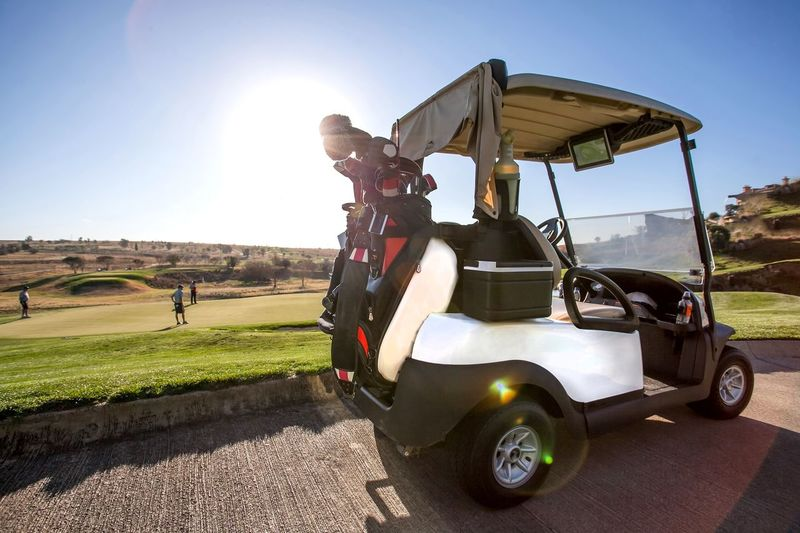 Golf cart on