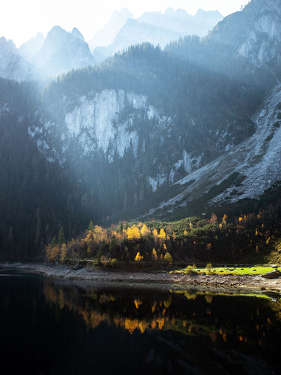 Mountain Scenics - Nature Beauty In Nature Water Nature Tranquil Scene Tranquility Tree Plant Mountain Range No People Non-urban Scene Lake Landscape Environment Day Animal Themes Land Outdoors Autumn Landscape_Collection Nature_collection Alps Austria Nature
