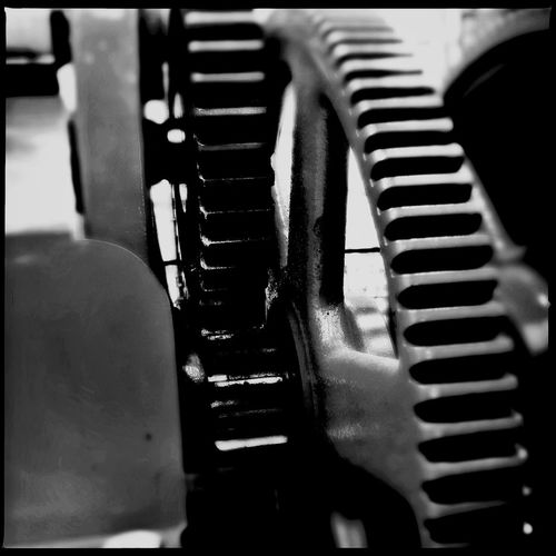 Close-up of railings