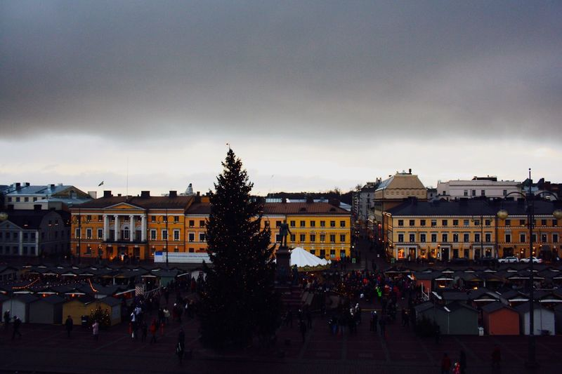 Christmas Time in Helsinki Christmas Market Helsinki Finland Cloud - Sky Senaatintori Senatesquare City Centre EyeEmNewHere Helsingfors People
