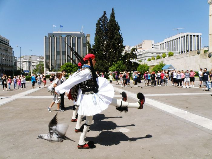 Capture The Moment Traditional Costume Changing Of The Guards Greek Parliament Syntagna Athens Greece