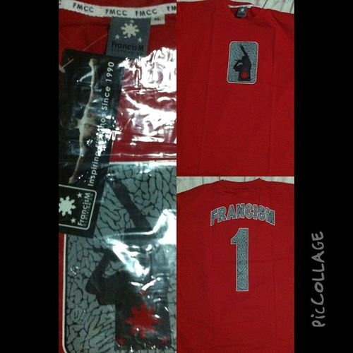 Finally got one! Whew. Haha! Late but worth it. Fmcc Shirts Red Francism One Cement Elephantprint
