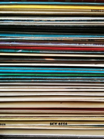 Full Frame Shot Of Records