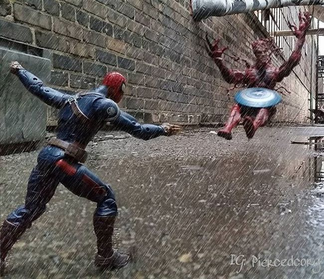 Capt. Spiderman is taking Carnage down! Fwebruary Tcb_rockyvspocky Spiderman Carnage Crossover Captspiderman Captspider