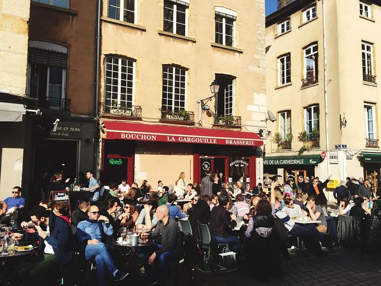 Lyon Vieux Lyon  Old Lyon Old Town Street Photography People Drinking Coffee Enjoying Life
