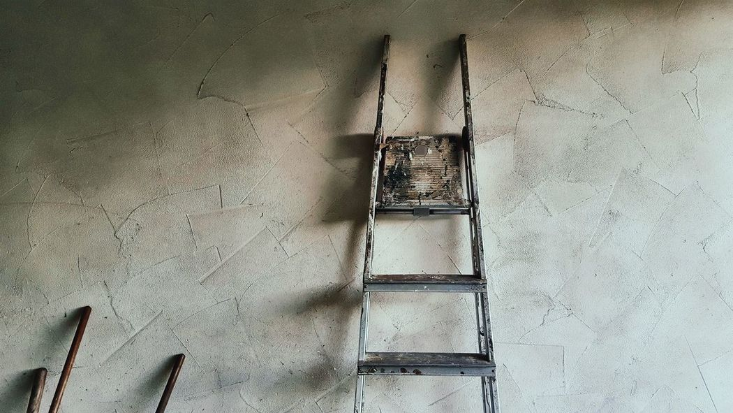 Broomstick Building Building Site Day Dirty Façade House House Facade In A Row Ladder Mens World No People Sticks Still Life Wall Wall - Building Feature