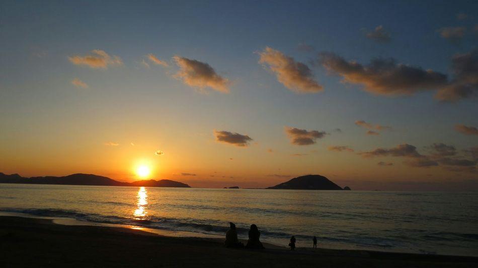 志賀島の黄昏 Hi! Enjoying Life Hello World Sea View Sea And Sky Sea 逆光部 シルエット部