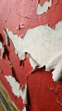 Abandoned Places AntiM Broken Paint Red Age Aged Patina Architecture Backgrounds Building Exterior Built Structure Close-up Day Flakes Flaking Paint Full Frame No People Old Buildings Outdoors Paint Peeling Off Peeling Paint Red Red And White Colour Textured  Weathered Textured