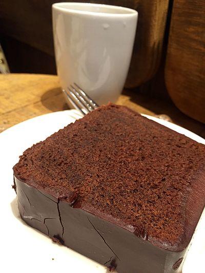 Chocolate Cake Chocolate Cake Goûter Taking A Break Tea Time Bakery The Foodie - 2015 EyeEm Awards Coffee And Sweets