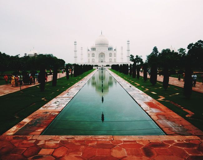 Agra - India Taj Mahal India Architecture Built Structure Building Exterior Travel Destinations Sky Tourism Travel Water Day History