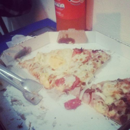 Não sou obeso de ruim kkkkkkkk Pizzaa  <3