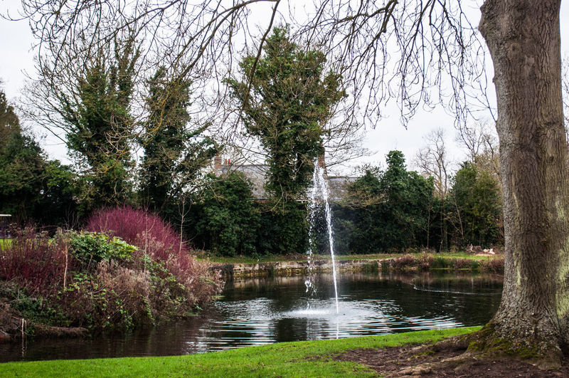 Hannington Golf Club Fountain Water Beauty In Nature Non-urban Scene Tranquility No People Outdoors Day Spraying