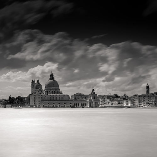 Venice - Basilica di Santa Maria della Salute long exposure black and white Cloud - Sky Building Exterior Built Structure Architecture Sky Building Travel Destinations City Religion Place Of Worship Waterfront Travel Spirituality Belief Tourism Outdoors Cityscape Spire  Venice Blackandwhite Long Exposure Dramatic Sky