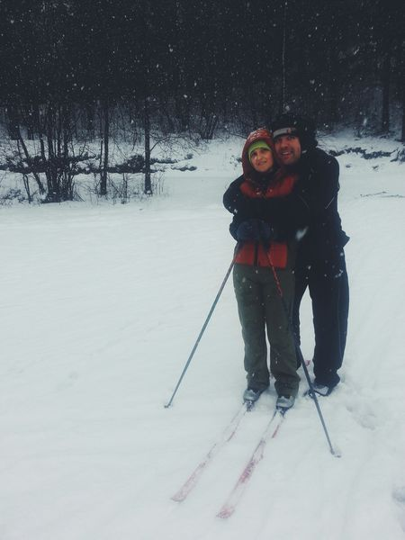 Mom n Dad :D Family Snow Enjoying Life Winter Skiing Love In The Air Parents Everyday Joy EyeEmRussianTeam