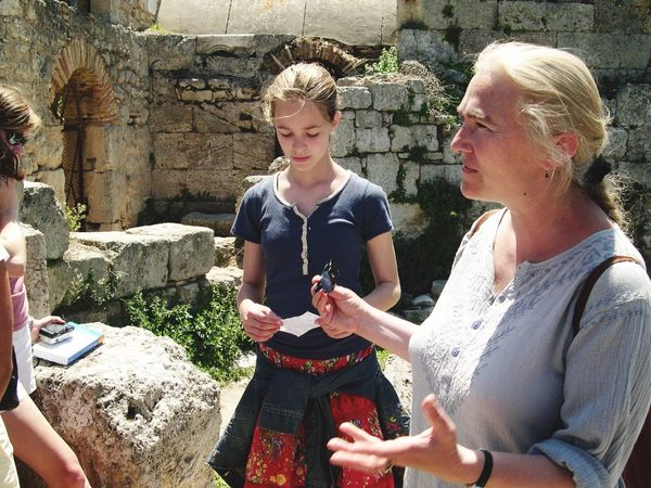 Discussing Corinth Greece 2004