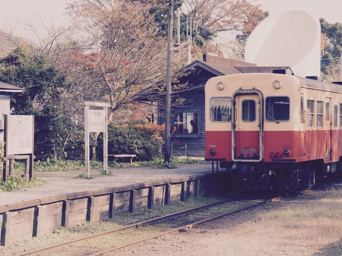 小湊鉄道 上総中野 Transportation Mode Of Transport Outdoors Tree Public Transportation Day No People Sky Station Station Platform