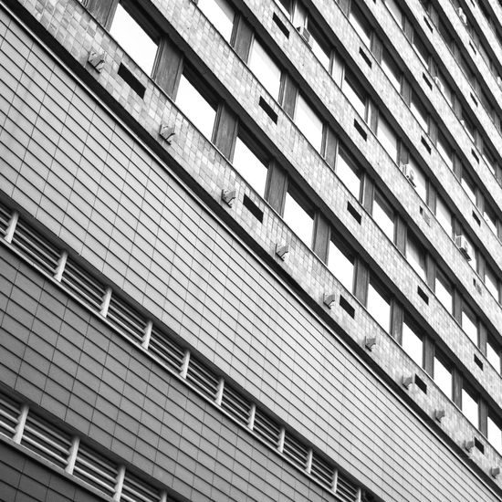 Bilbao perspective Architectural Feature Architecture Backgrounds Bilbao Blackandwhite Photography Building Built Structure City City Life Day Diagonal Diagonal Lines Diminishing Perspective Low Angle View Modern No People Office Building Outdoors Perspective Repetition Urban Geometry Premium Collection The Graphic City
