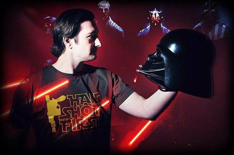 To Sith or not to Sith. Star Wars meets Hamlet. MrandMrsSparkes TenYearAnniversary Starwars Starwarsgeek Darthvader SithLords TheSparkesPhotoshoot
