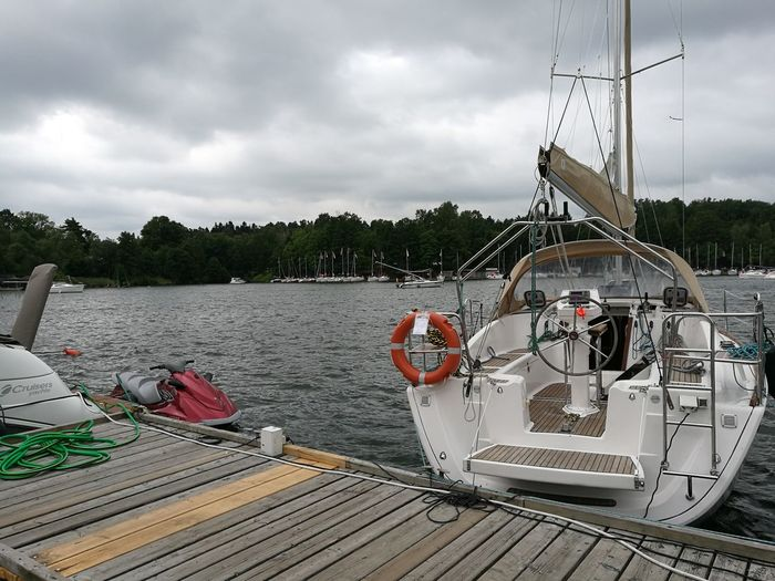 Cloud - Sky Nautical Vessel Transportation Water Outdoors Mode Of Transport Day No People Sky Lake Boat Deck