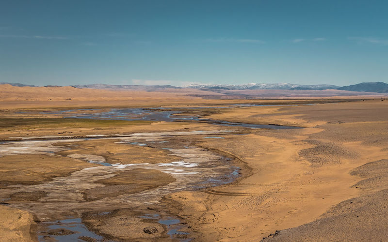 Mongolia Scenics - Nature Beauty In Nature Tranquil Scene Sky Tranquility Environment Non-urban Scene Landscape Nature No People Day Land Mountain Desert Water Remote Idyllic Physical Geography Cloud - Sky Arid Climate Climate Outdoors