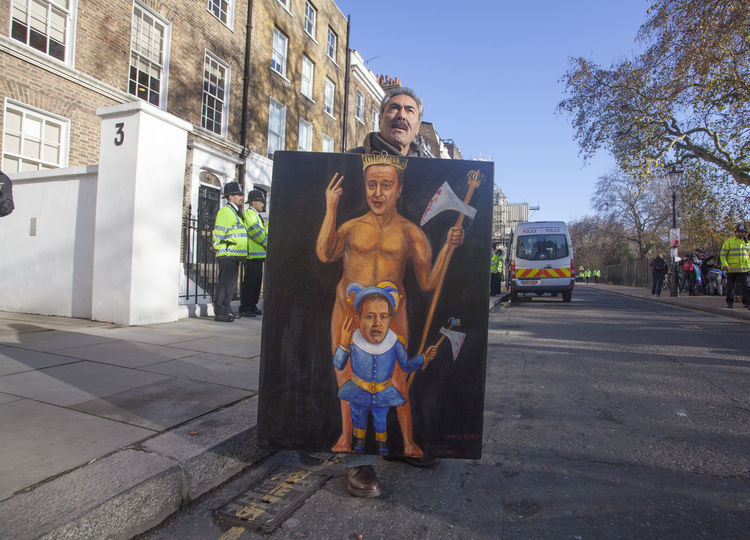 Taken during an anti-austerity march in London. Artist Confidence  David Cameron Devil Funny Joke London Politics Protest Amusing Freedom Of Expression Nick Clegg Political Protest Art Satire Satirical Satiricalart