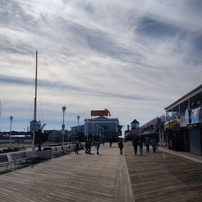 Beautiful day for board walking.... Oceancitycool OceanCity Maryland Ocmd Boardwalk