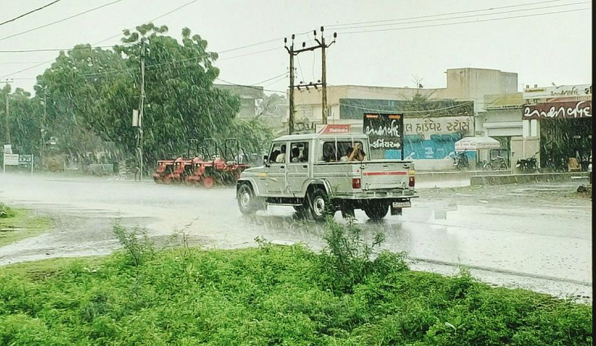 Photo capture in heavy rain at bhavnagar,gujarat,india