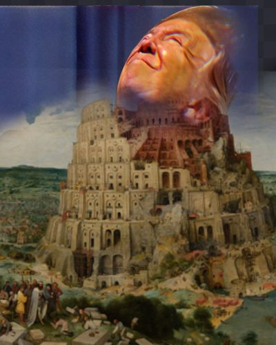 Let Us Build A Wall...all The Way To The Sky: Genesis 11 Photographic Approximation Modern Mithology Facial Experiments