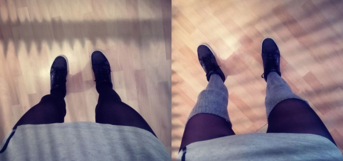 Outfitoftheday version 1(left) and version 2 (right) which one u like more? Outfitoftheday Shoe Overknee Legs