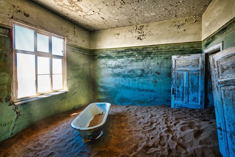Kolmanskop Window Indoors  Abandoned Old Day Damaged My Best Photo Built Structure Domestic Room Nature Ruined Building Architecture