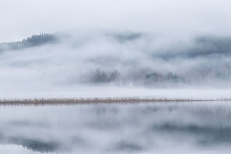 Beauty In Nature Day Fog Idyllic Lake Landscape Mist Misty Morning Nature No People Outdoors Reflection Scenics Sky Tranquil Scene Tranquility Water Waterfront