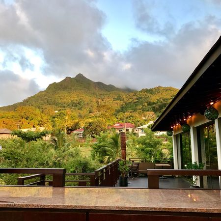 Sky Cloud - Sky Mountain Architecture Built Structure Building Exterior Day No People Tree Outdoors Nature Roof Mountain Range Scenics Beauty In Nature Seychellesisland Seychelles Maheisland Tradervic