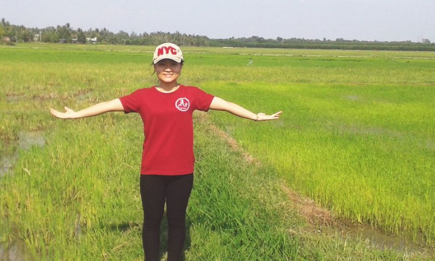 Inthefield Greenricefield Rice Field Feelinggreat Comfortable Relaxed Atmosphere Smling