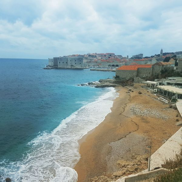 Dubrovnik, Croatia Waves Waves Rolling In Oldtown Oldcityscape Croatia Dubrovnik Sea Sand Beach Beachphotography EyeEmNewHere Day Horizon Over Water Travel Destinations Vacations Nature No People Beauty In Nature