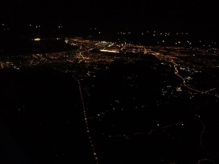 rom the airplane Night Aerial View Outdoors Cityscape Nightphotography Nightshot Starseed From An Airplane Window Danang TakenbyVin