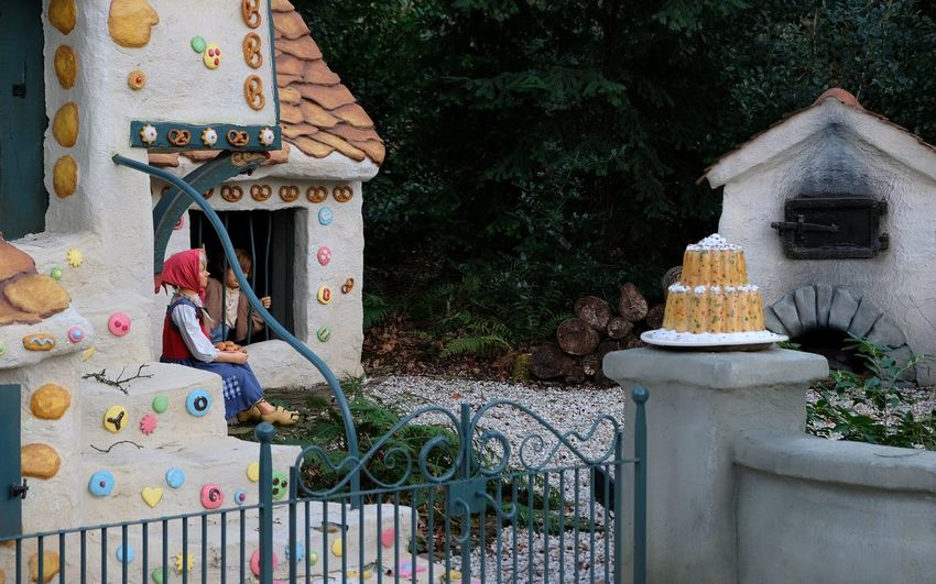 Attraction theme park the Efteling, Kaatsheuvel, the Netherlands Architecture Built Structure No People Day Metal Nature Gate Plant Building Exterior Tree Building Security Protection Outdoors Fence Barrier Safety Art And Craft Boundary Religion