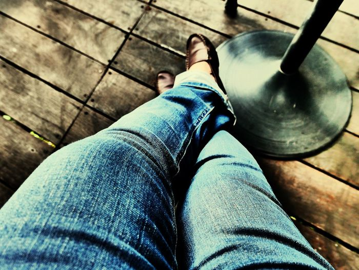 Waiting... Blue Jean Taking Pictures Taking Photo Relaxing