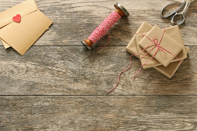Background Border Brown Paper Card Desktop Frame Generosity Gift Heart Holiday Overhead Paper Red Romance Twine Valentines White Wrapping