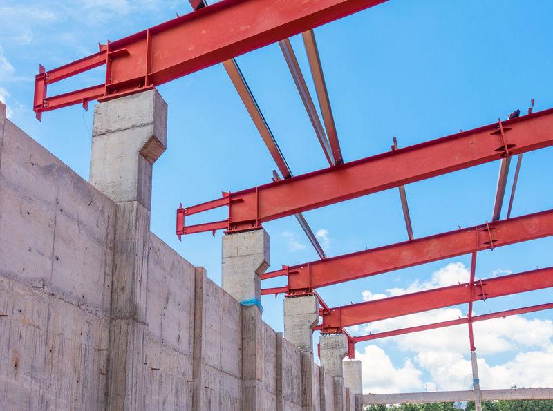 Bolt Construction Construction Site Civil Concrete Connection Installation Nut Steel Steel Structure  Structure
