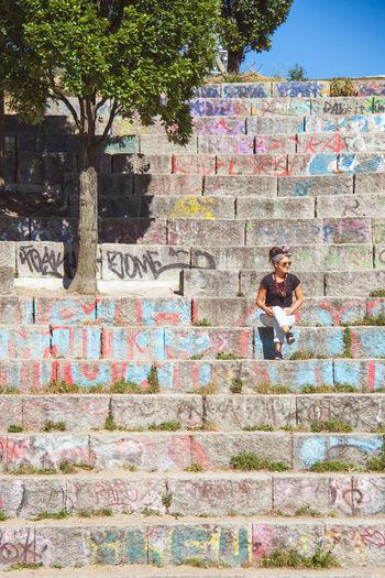 Lauretta Artofvisuals Beautiful Berlin Berlinstyle City EyeEm Best Shots EyeEm Gallery Germany Girl Graffiti Italianstyle Mauerpark Model Outdoors Peace Photo Photography Photooftheday Portrait Quiet Moments Solitude Stairs Street Art Streetphotography Tree