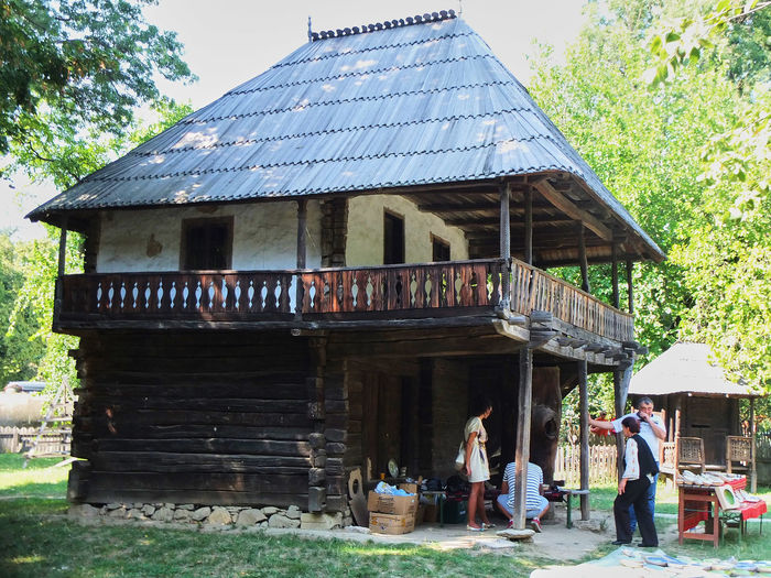 The Village Museum in Bucharest - Architecture Building Exterior Built Structure Countryside Heritage House Museum Outdoors Popular Romanian  Rustic Rustiv Traditional Village Village Museum