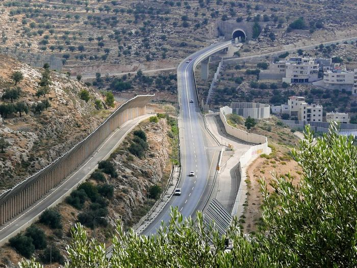 Separation wall near Bethlehem. Wall Architecture Built Structure Day High Angle View Nature No People Outdoors Plant Tree Wall - Building Feature Walls