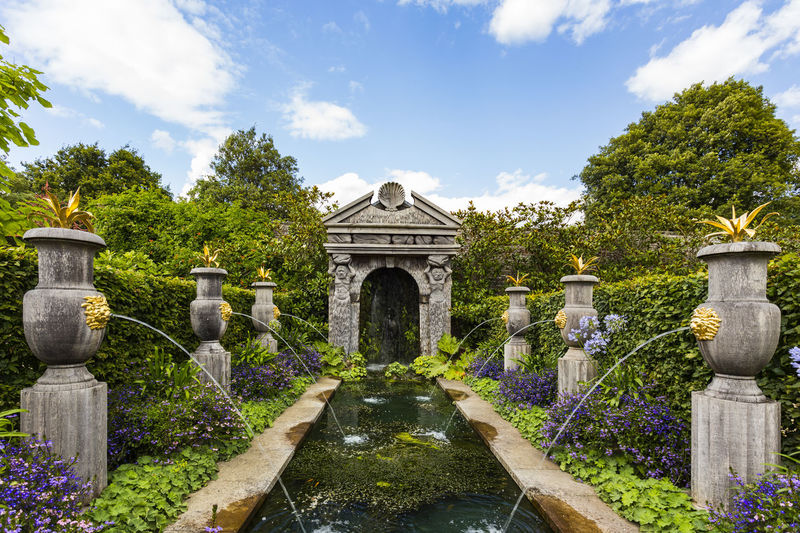 Arundel castle gardens, Arundel, West Sussex, England Architecture Beauty In Nature Building Exterior Built Structure Cloud - Sky Day Fountain Growth Motion Nature No People Outdoors Plant Sky Statue Tree Water