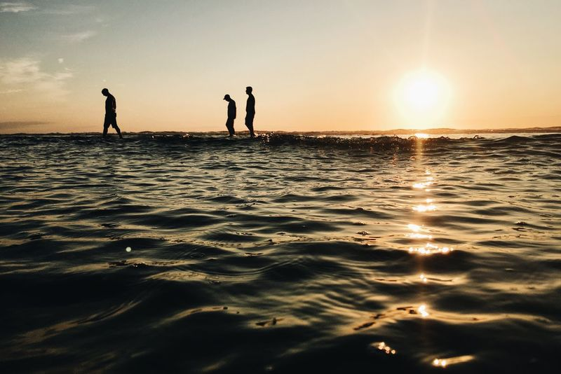 Sunset in France Sunset Water Ocean Ocean View Picoftheday Vscocam IPhoneography VSCO France People And Places