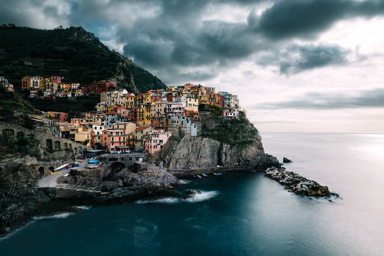 Cinque Terre Architecture Beach Building Exterior Cinque Terre City Cityscape Cliff Cloud - Sky Day Italia Italy Landscape Mountain Nature No People Outdoors Rock - Object Scenics Sea Sky Travel Destinations Vacations Village Water First Eyeem Photo EyeEmNewHere My Best Photo